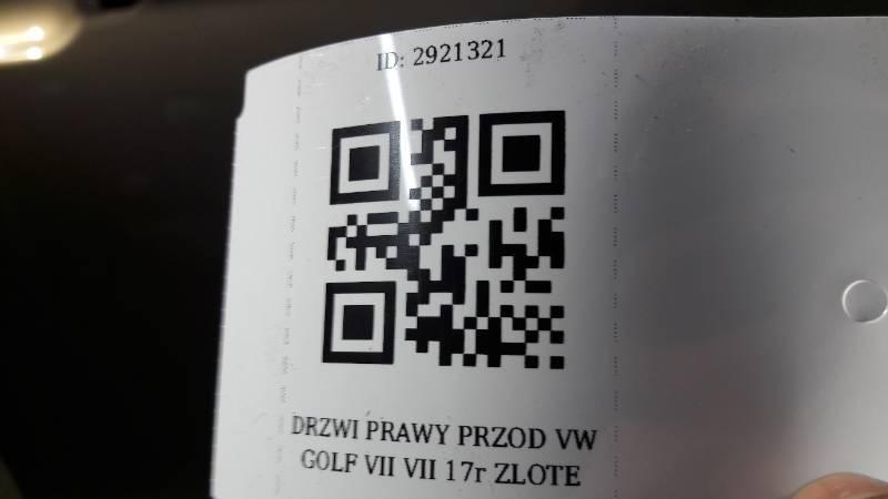 DRZWI PRAWY PRZOD VW GOLF VII VII 17r ZLOTE