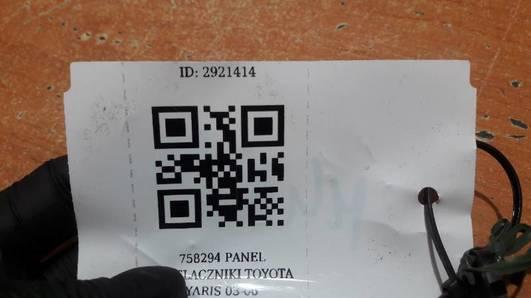758294 PANEL PRZELACZNIKI TOYOTA YARIS 03-06