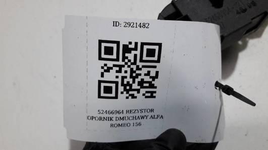 52466964 REZYSTOR OPORNIK DMUCHAWY ALFA ROMEO 156