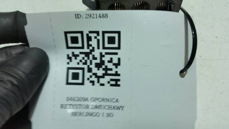 846309A OPORNICA REZYSTOR DMUCHAWY BERLINGO 1.9D