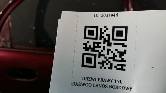 DRZWI PRAWY TYL DAEWOO LANOS BORDOWE