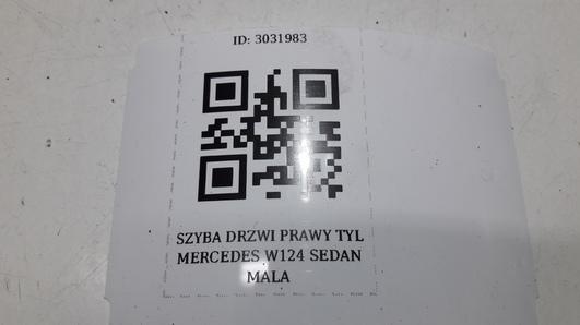 SZYBA DRZWI PRAWY TYL MERCEDES W124 SEDAN MALA