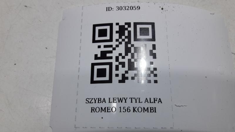 SZYBA LEWY TYL ALFA ROMEO 156 KOMBI