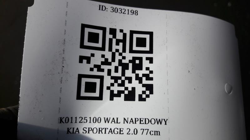 K01125100 WAL NAPEDOWY KIA SPORTAGE 2.0 77cm