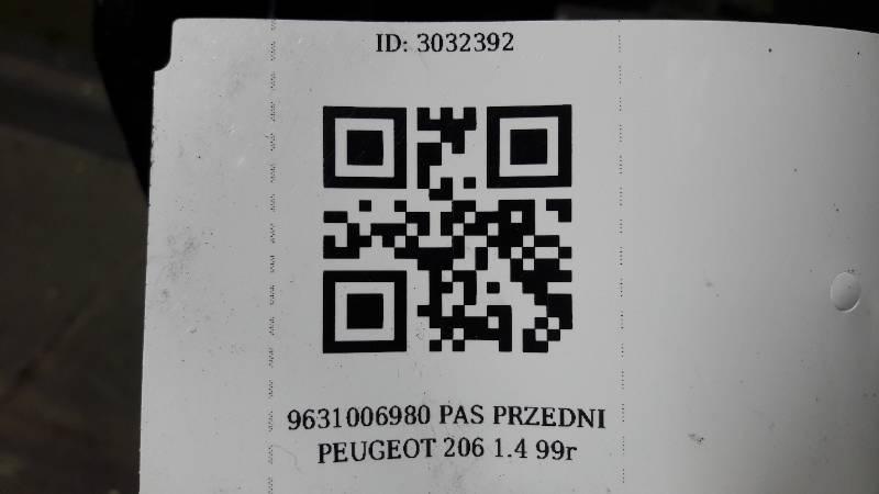 9631006980 PAS PRZEDNI PEUGEOT 206 1.4 99r