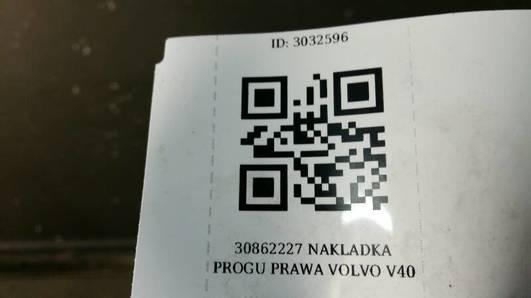 30862227 NAKLADKA PROGU PRAWA VOLVO V40