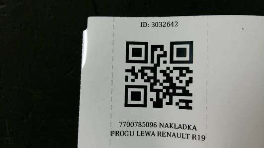 7700785096 NAKLADKA PROGU LEWA RENAULT R19