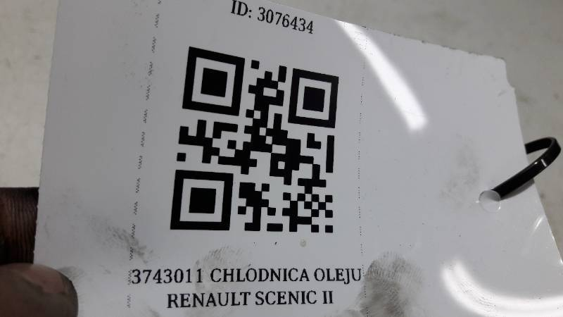 3743011 CHLODNICA OLEJU RENAULT SCENIC II