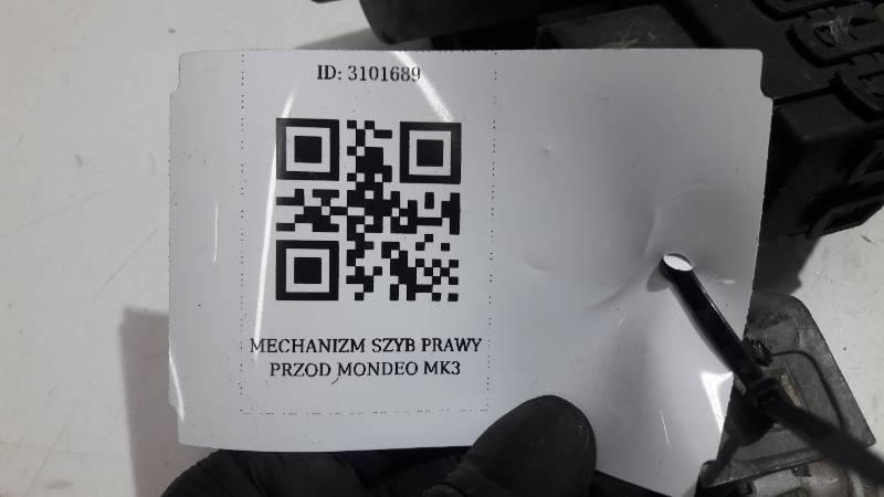 MECHANIZM SZYB PRAWY PRZOD MONDEO MK3