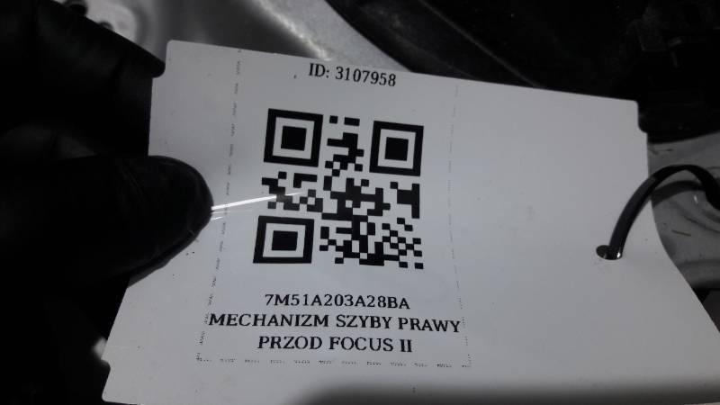 7M51A203A28BA MECHANIZM SZYBY PRAWY PRZOD FOCUS II