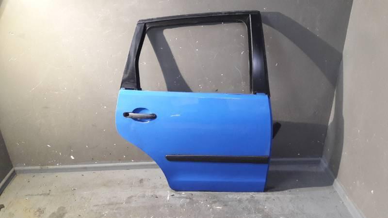 DRZWI PRAWY TYL VW POLO IV 9N 5D NIEBIESKIE