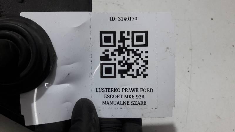 LUSTERKO PRAWE FORD ESCORT MK6 93R MANUALNE SZARE