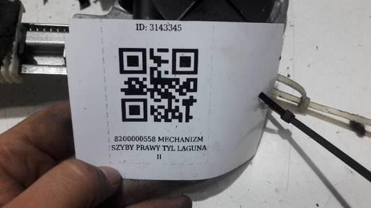 8200000558 MECHANIZM SZYBY PRAWY TYL  LAGUNA II