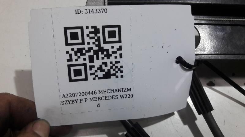A2207200446 MECHANIZM SZYBY P.P  MERCEDES W220