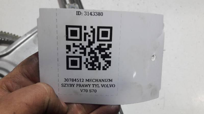 30784512 MECHANIZM SZYBY PRAWY TYL VOLVO V70 S70