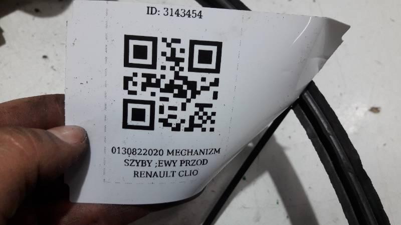 0130822020 MECHANIZM SZYBY LEWY PRZOD RENAULT CLIO