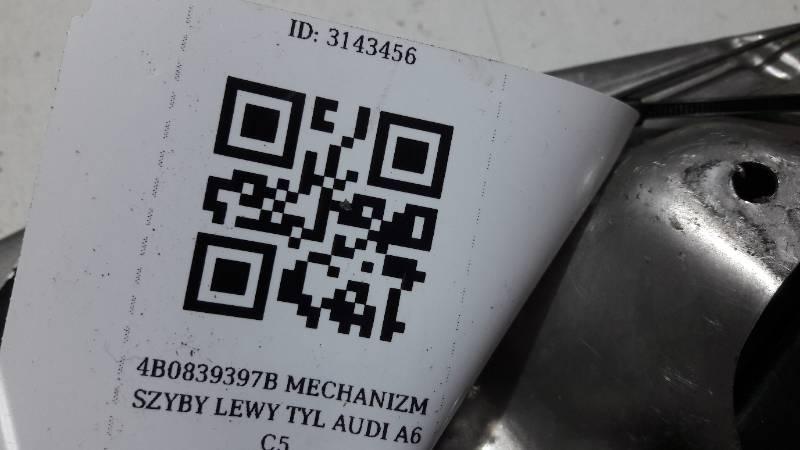 4B0839397B MECHANIZM SZYBY LEWY TYL AUDI A6 C5