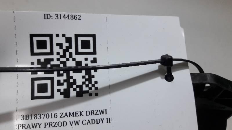 3B1837016 ZAMEK DRZWI PRAWY PRZOD VW CADDY II