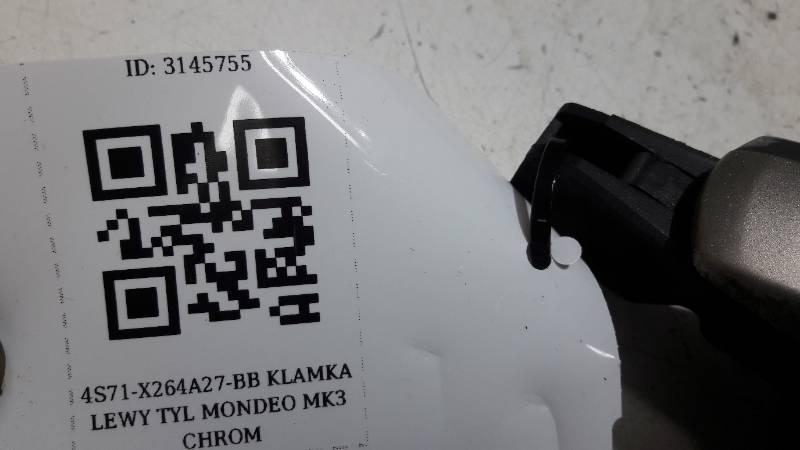 4S71-X264A27-BB KLAMKA LEWY TYL MONDEO MK3 CHROM