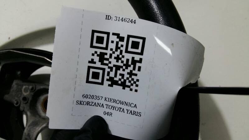 6020357 KIEROWNICA SKORZANA TOYOTA YARIS 04R