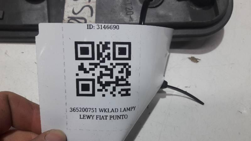 36500751 WKLAD LAMPY LEWY FIAT PUNTO