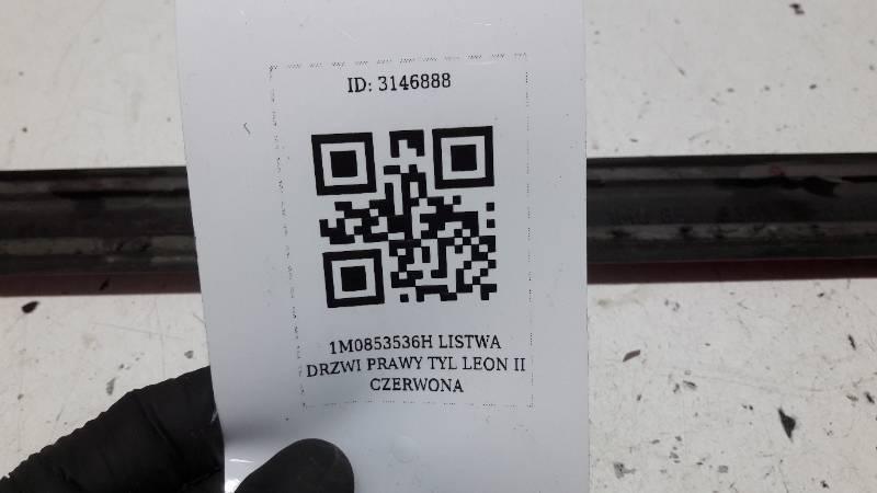 1M0853536H LISTWA DRZWI PRAWY TYL LEON II CZERWONA