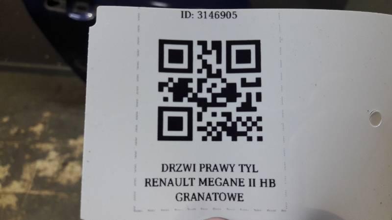 DRZWI PRAWY TYL RENAULT MEGANE II HB GRANATOWE