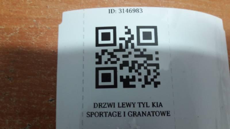 DRZWI LEWY TYL KIA SPORTAGE I GRANATOWE