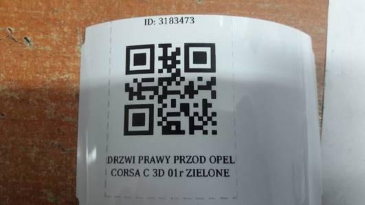 DRZWI PRAWY PRZOD OPEL CORSA C 3D 01r ZIELONE