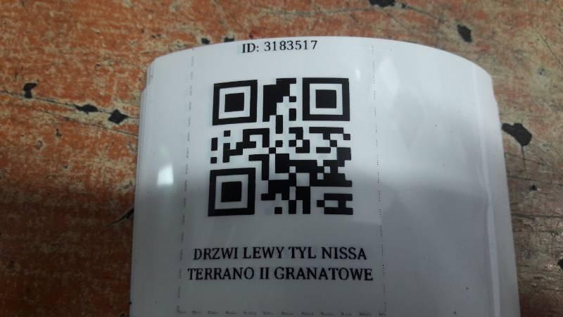 DRZWI LEWY TYL NISSAN  TERRANO II GRANATOWE