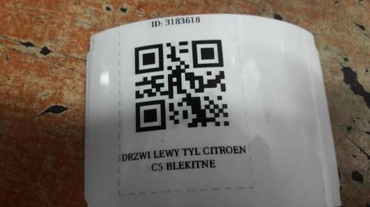 DRZWI LEWY TYL CITROEN C5 I BLEKITNE