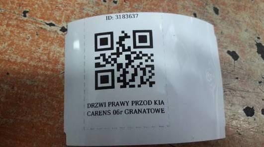 DRZWI PRAWY PRZOD KIA CARENS 06r GRANATOWE