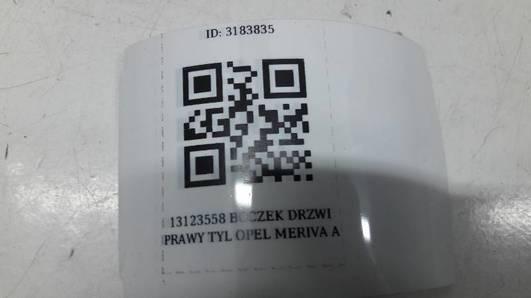 13123558 BOCZEK DRZWI PRAWY TYL OPEL MERIVA A
