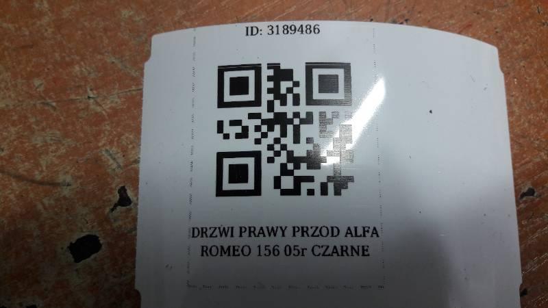 DRZWI PRAWY PRZOD ALFA ROMEO 156 05r CZARNE