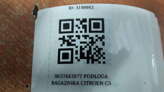 9637643977 PODLOGA BAGAZNIKA CITROEN C5