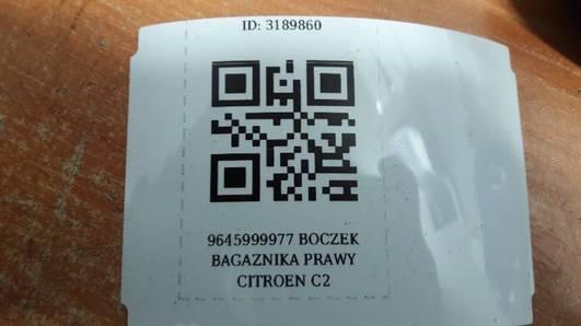 9645999977 BOCZEK PRAWY TYL CITROEN C2