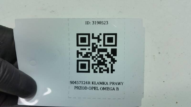 90457124R KLAMKA PRAWY PRZOD OPEL OMEGA B