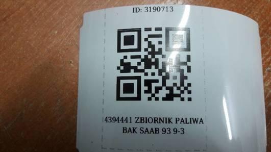 4394441 ZBIORNIK PALIWA BAK SAAB 93 9-3