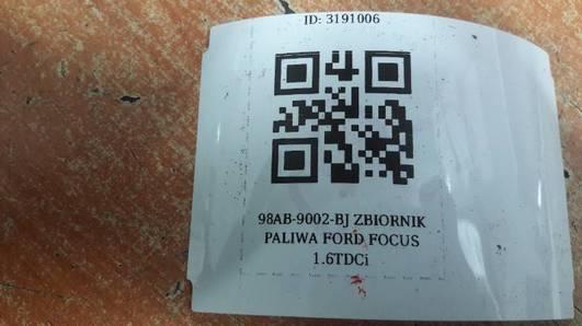 98AB-9002-BJ ZBIORNIK PALIWA FORD FOCUS 1.6TDCi