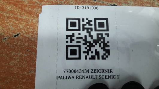7700843434 ZBIORNIK PALIWA RENAULT SCENIC I