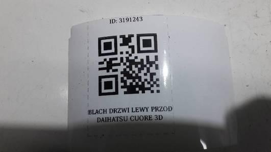 BLACHA DRZWI LEWY PRZOD DAIHATSU CUORE 3D VI