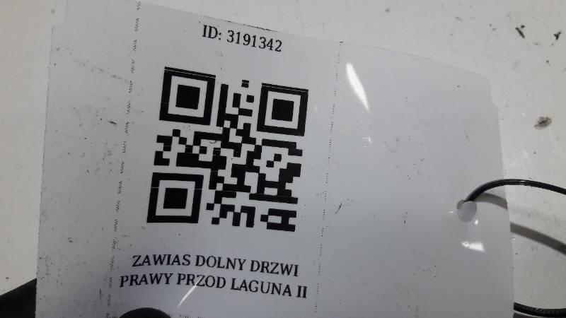 ZAWIAS DOLNY DRZWI PRAWY PRZOD LAGUNA II