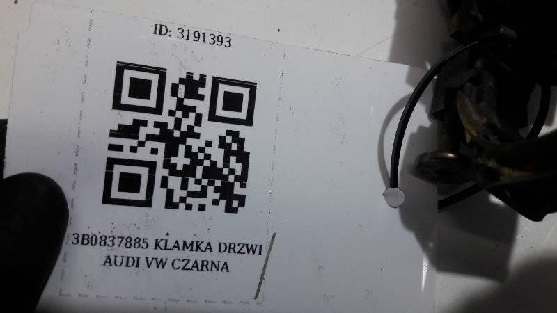 3B0837885 KLAMKA DRZWI PRAWY PRZOD AUDI VW  CZARNA