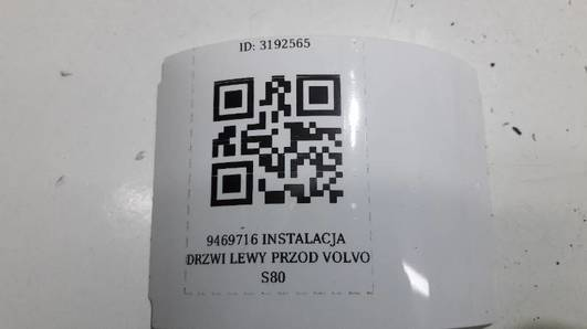 9469716 INSTALACJA DRZWI LEWY PRZOD VOLVO S80
