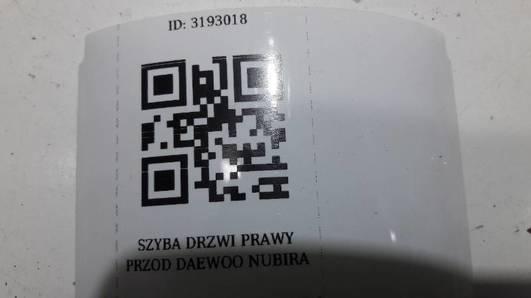 SZYBA DRZWI PRAWY PRZOD DAEWOO NUBIRA