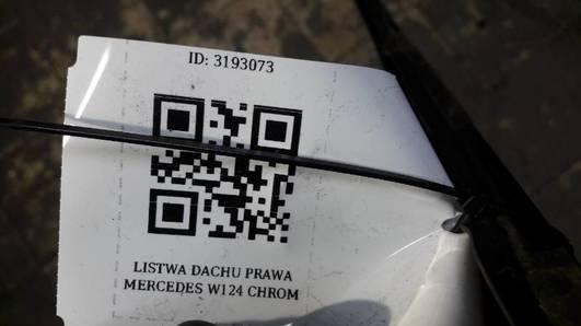 LISTWA DACHU PRAWA MERCEDES W124 CHROM