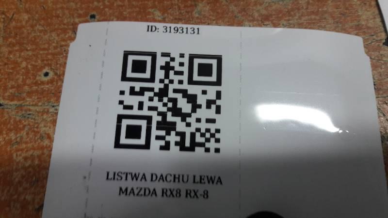 LISTWA DACHU LEWA MAZDA RX8 RX-8