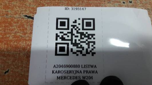 A2046900880 LISTWA KAROSERYJNA PRAWA MERCEDES W204