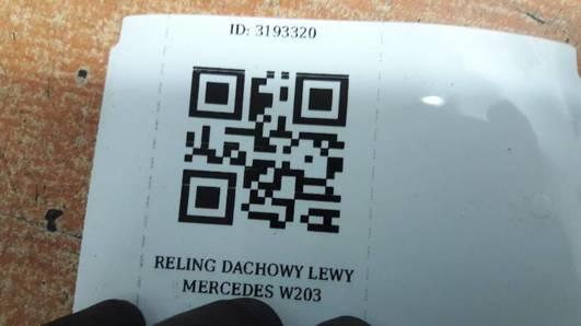 RELING DACHOWY LEWY MERCEDES W203