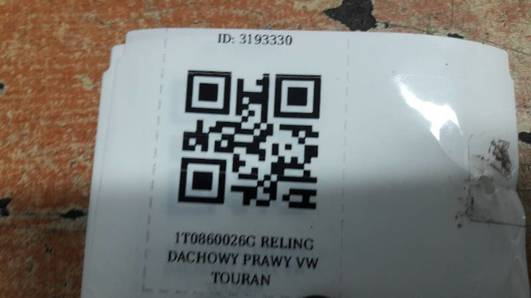 1T0860026G RELING DACHOWY PRAWY VW TOURAN
